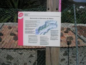 Cartel Sendero - Barranco de Masca