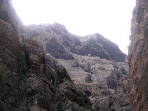Altas paredes verticales Barranco de Masca