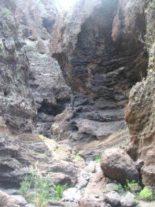 Cauce estrecho Barranco de Masca