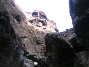 Formas rocosas en Barranco de Masca