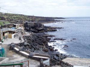 Casas en el litoral del Malpais de Güimar