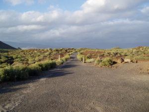 Carretera Asfalto desde el Faro de la Rasca