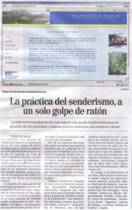 Reportaje en la Gaceta de Canarias (rutasdetenerife.com)