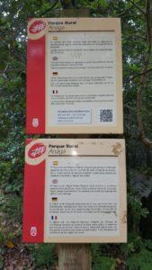 Cartel que indica la obligatoriedad de obtener el permiso para acceder a la zona del pijaral