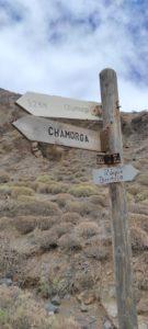 Cartel vuelta Chamorga por el barranco